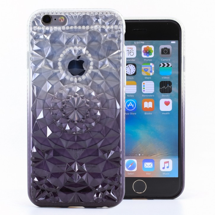 COOVY® Cover für Apple iPhone 6 / 6s leichtes, dünne TPU Silikon Bumper Case, Slim, im Kristall Design