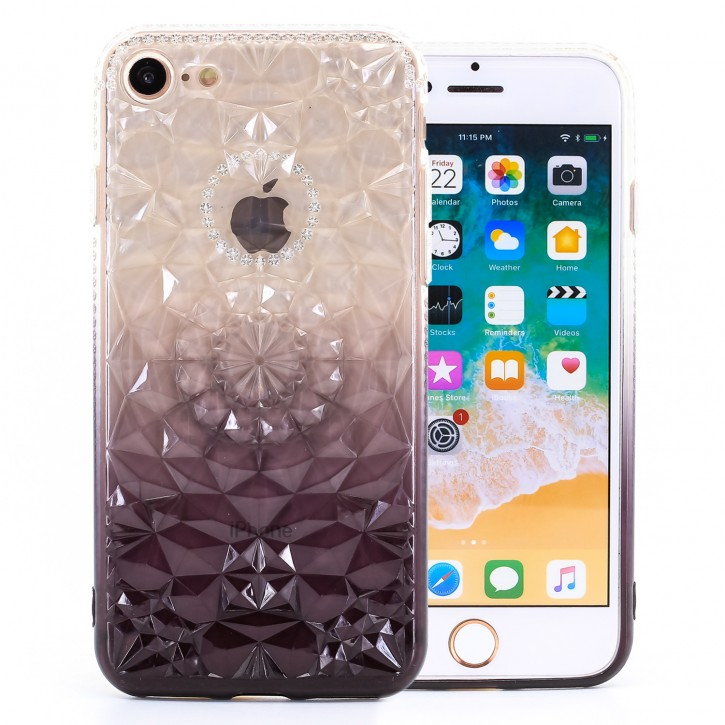 COOVY® Cover für Apple iPhone 7 / 8 leichtes, dünne TPU Silikon Bumper Case, Slim, im Kristall Design