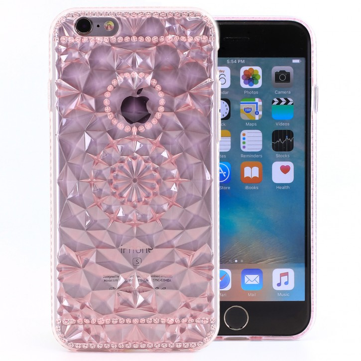 COOVY® Cover für Apple iPhone 6 / 6s leichtes, dünne TPU Silikon Bumper Case, Slim, transparent im Kristall Design