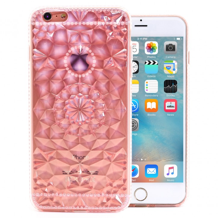 COOVY® Cover für Apple iPhone 6 + plus leichtes, dünne TPU Silikon Bumper Case, Slim, transparent im Kristall Design