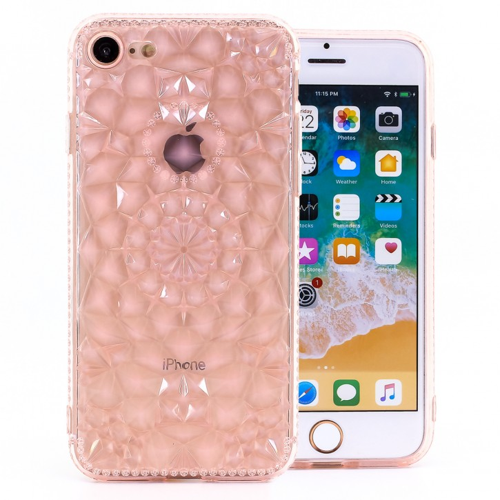 COOVY® Cover für Apple iPhone 7 / 8 leichtes, dünne TPU Silikon Bumper Case, Slim, transparent im Kristall Design