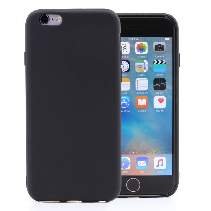 COOVY® Cover für Apple iPhone 6 / 6s ultra dünnes, leichtes TPU Silikon Bumper Case, Slim, metallisch schimmerndes Design