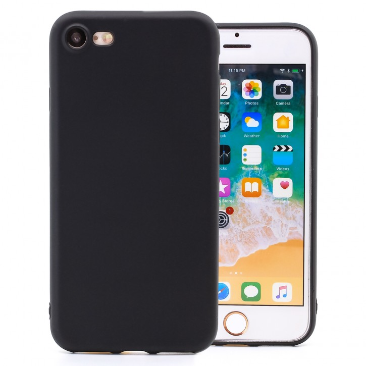 COOVY® Cover für Apple iPhone 7 / 8 ultra dünnes, leichtes TPU Silikon Bumper Case, Slim, metallisch schimmerndes Design