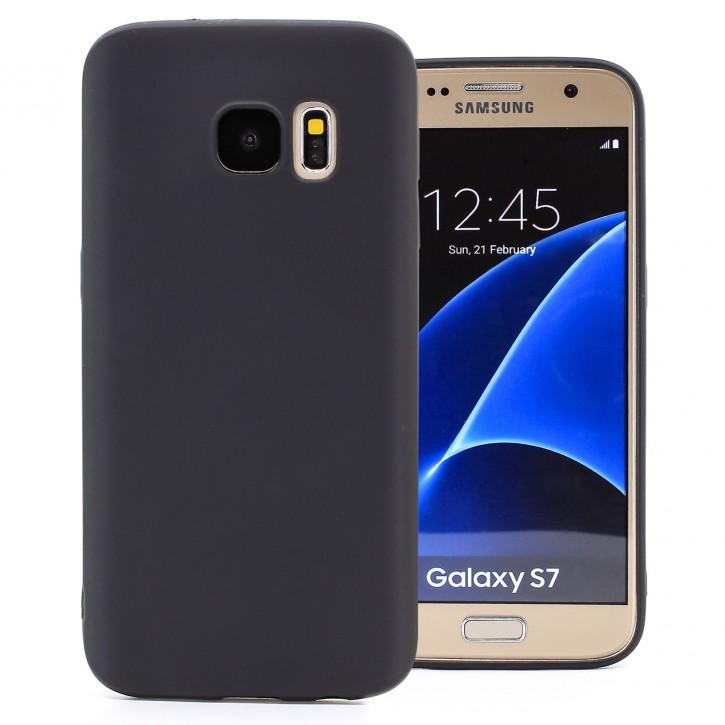 COOVY® Cover für Samsung Galaxy S7 SM-G930F SM-G930 ultra dünnes, leichtes TPU Silikon Bumper Case, Slim, metallisch schimmerndes Design