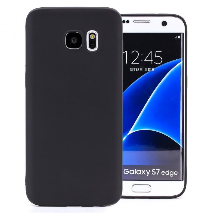 COOVY® Cover für Samsung Galaxy S7 EDGE SM-G935F SM-G935 ultra dünnes, leichtes TPU Silikon Bumper Case, Slim, metallisch schimmerndes Design