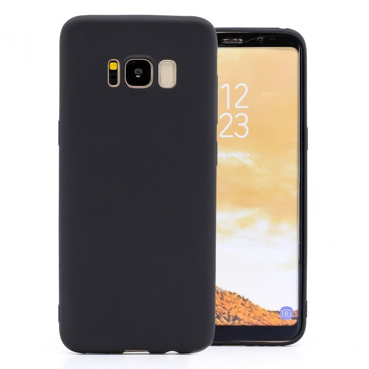 COOVY® Cover für Samsung Galaxy S8 SM-G950F / SM-G950FD ultra dünnes, leichtes TPU Silikon Bumper Case, Slim, metallisch schimmerndes Design