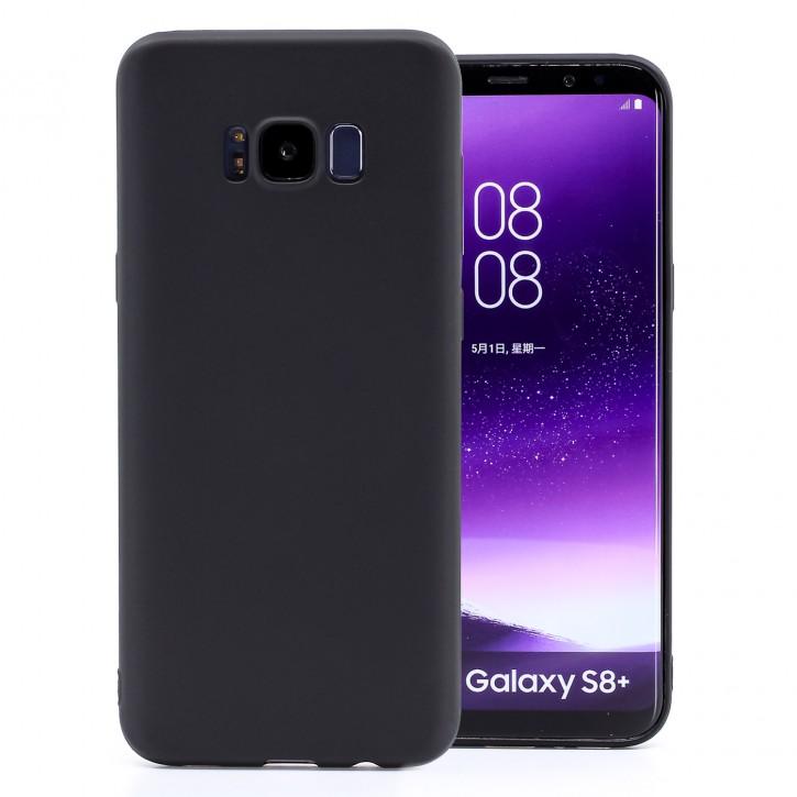 COOVY® Cover für Samsung Galaxy S8 + plus SM-G955F / SM-G955FD ultra dünnes, leichtes TPU Silikon Bumper Case, Slim, metallisch schimmerndes Design