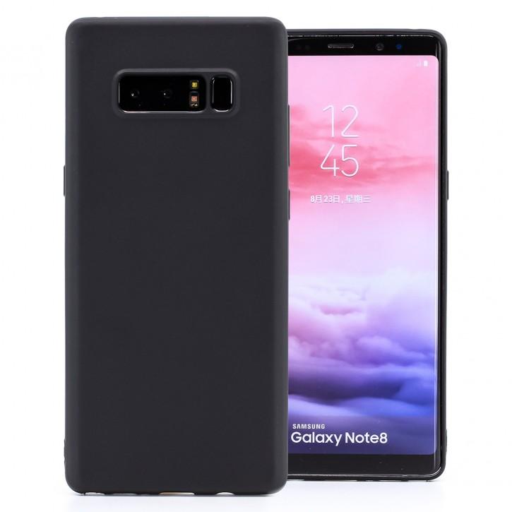 COOVY® Cover für Samsung Galaxy Note 8 SM-N950 / SM-N950F / SM-N950FD ultra dünnes, leichtes TPU Silikon Bumper Case, Slim, metallisch schimmerndes Design