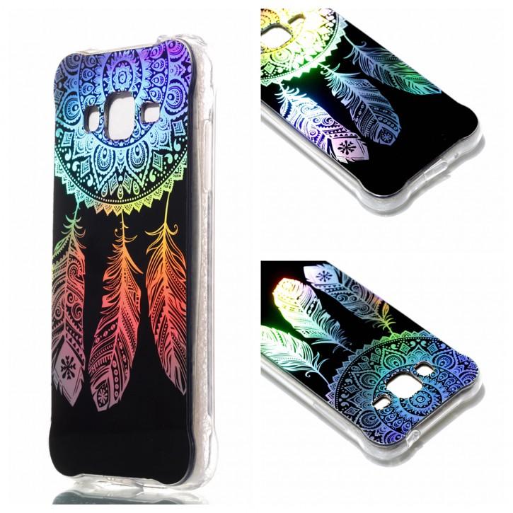 COOVY® Cover für Samsung Galaxy J3 SM-J310 SM-J320 (Model 2015 / 2016) ultra dünnes, buntes Designer TPU Silikon Bumper Case, Hülle, Slim, Hologramm Design |