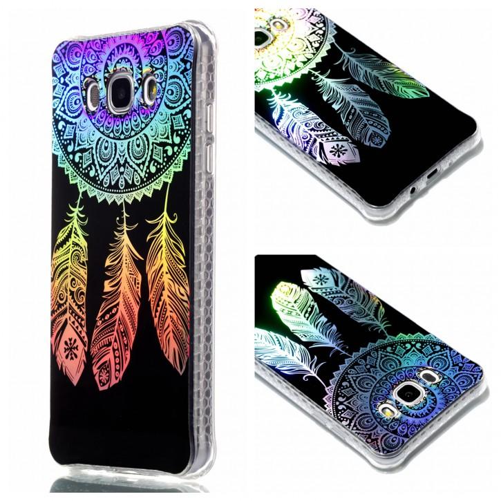 COOVY® Cover für Samsung Galaxy J7 SM-J710 / SM-J710FN / SM-J710F/DS (Model 2016) ultra dünnes, buntes Designer TPU Silikon Bumper Case, Slim, Hologramm Design