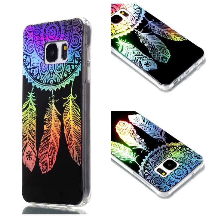 COOVY® Cover für Samsung Galaxy S7 SM-G930F SM-G930 ultra dünnes, buntes Designer TPU Silikon Bumper Case, Slim, Hologramm Design