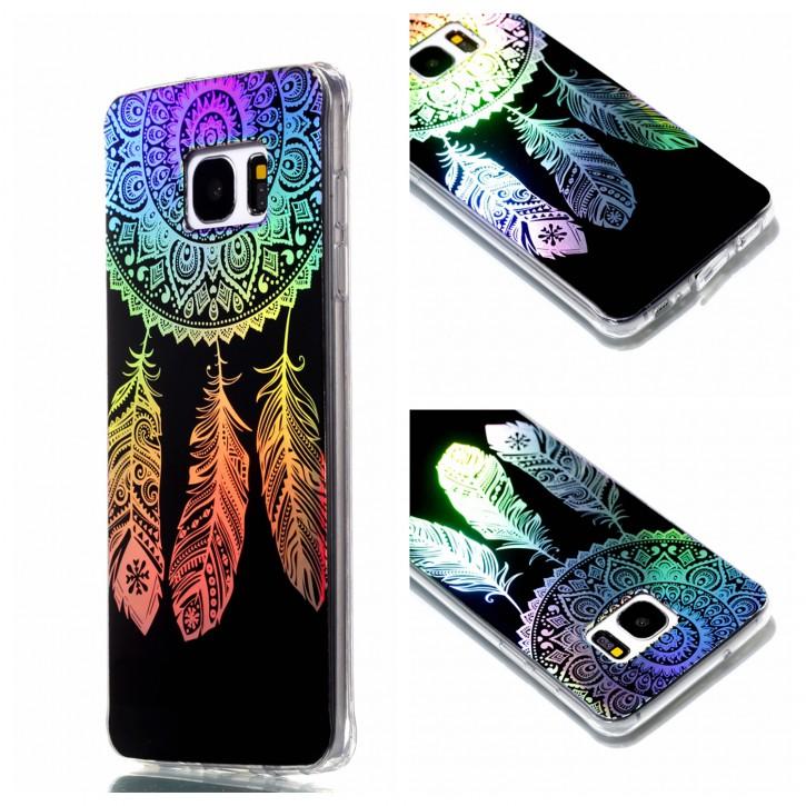 COOVY® Cover für Samsung Galaxy S7 EDGE SM-G935F SM-G935 ultra dünnes, buntes Designer TPU Silikon Bumper Case, Slim, Hologramm Design