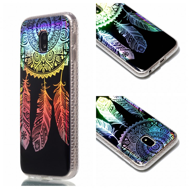 COOVY® Cover für Samsung Galaxy J5 SM-J530 / SM-J530F/DS (Model 2017) / J5 pro ultra dünnes, buntes Designer TPU Silikon Bumper Case, Slim, Hologramm Design