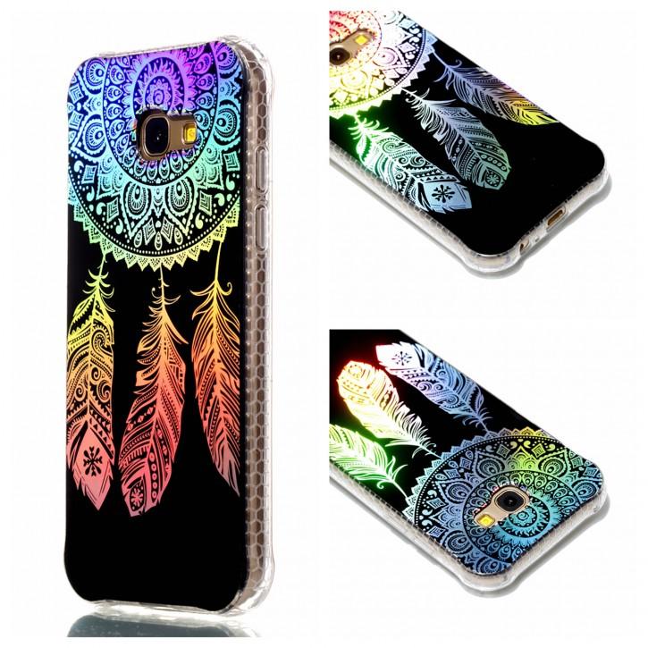 COOVY® Cover für Samsung Galaxy A5 SM-A520 / SM-A520F (Model 2017) ultra dünnes, buntes Designer TPU Silikon Bumper Case, Slim, Hologramm Design