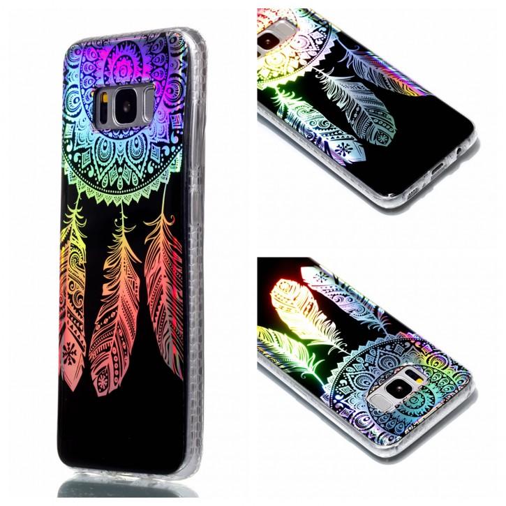 COOVY® Cover für Samsung Galaxy S8 SM-G950F / SM-G950FD ultra dünnes, buntes Designer TPU Silikon Bumper Case, Slim, Hologramm Design
