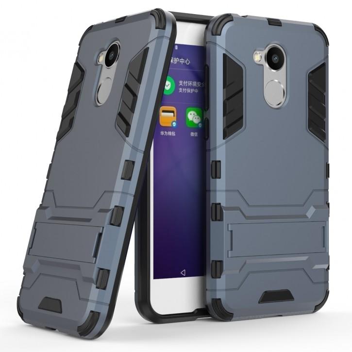 COOVY® Cover für Huawei Honor 6a Deluxe Hybrid Bumper Schutzhülle mit Doppelschicht aus Plastik + TPU-Silikon, extra starkes Case mit Anti-Shock Schutzfunktion, Hülle mit Standfunktion