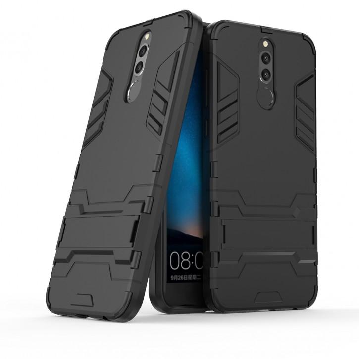 COOVY® Cover für Huawei Mate 10 lite / NOVA 2i Bumper Case, Doppelschicht aus Plastik + TPU-Silikon, extra stark, Anti-Shock, Standfunktion