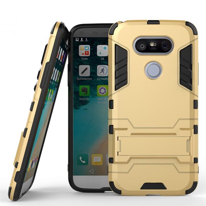 COOVY® Cover für LG G5 Bumper Case, Doppelschicht aus Plastik + TPU-Silikon, extra stark, Anti-Shock, Standfunktion