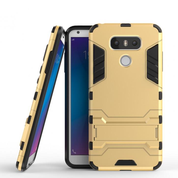 COOVY® Cover für LG G6 Bumper Case, Doppelschicht aus Plastik + TPU-Silikon, extra stark, Anti-Shock, Standfunktion