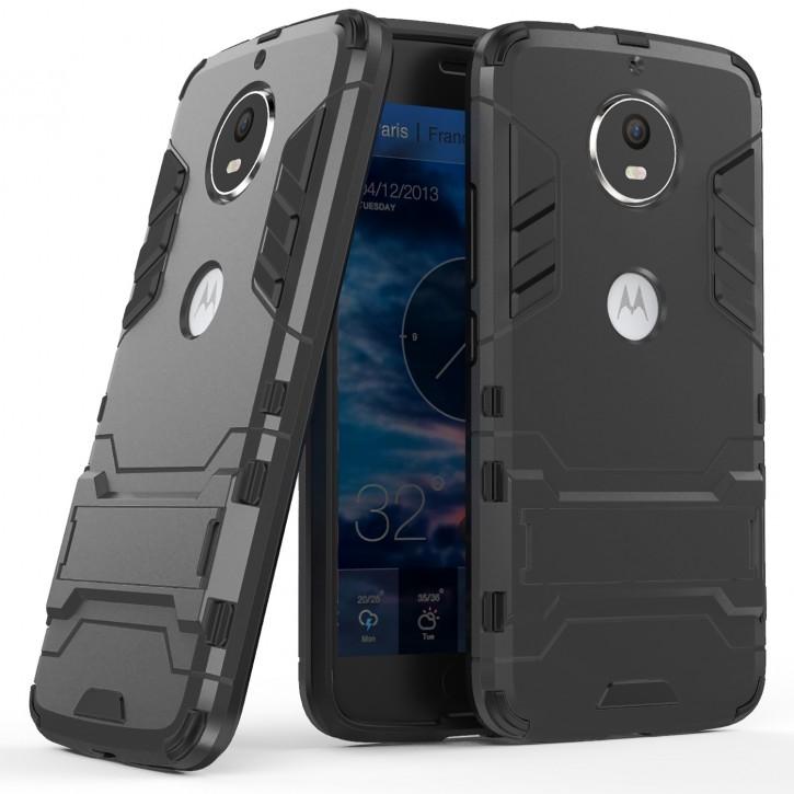 COOVY® Cover für Motorola Moto G5s Bumper Case, Doppelschicht aus Plastik + TPU-Silikon, extra stark, Anti-Shock, Standfunktion