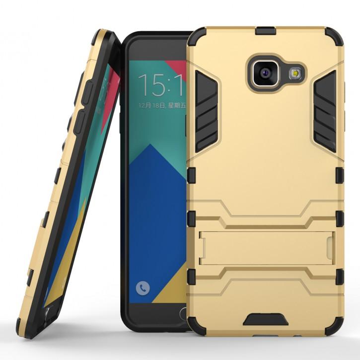 COOVY® Cover für Samsung Galaxy A5 SM-A510 / SM-A510F (Model 2016) Bumper Case, Doppelschicht aus Plastik + TPU-Silikon, extra stark, Anti-Shock Hülle, Standfunktion |