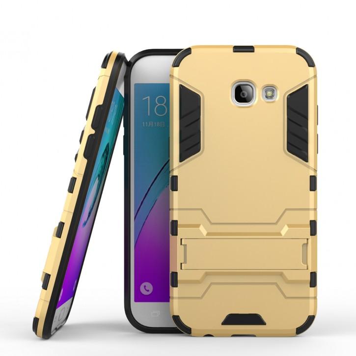 COOVY® Cover für Samsung Galaxy A5 SM-A520 / SM-A520F (Model 2017) Bumper Case, Doppelschicht aus Plastik + TPU-Silikon, extra stark, Anti-Shock, Standfunktion