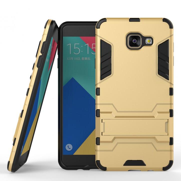 COOVY® Cover für Samsung Galaxy A7 SM-A710 / SM-A710F (Model 2016) Bumper Case, Doppelschicht aus Plastik + TPU-Silikon, extra stark, Anti-Shock, Standfunktion