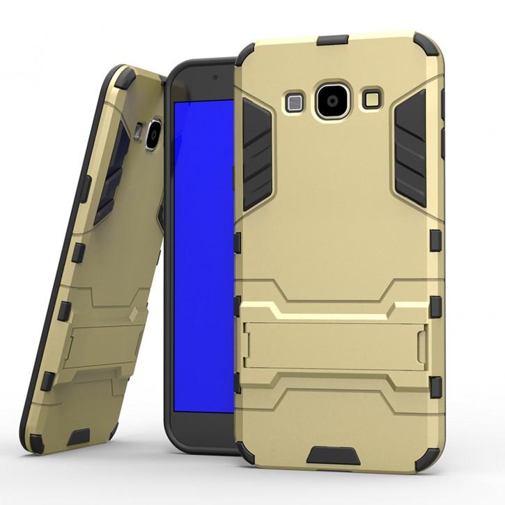 COOVY® Cover für Samsung Galaxy A8 SM-A800 / SM-A800F (Model 2015) Bumper Case, Doppelschicht aus Plastik + TPU-Silikon, extra stark, Anti-Shock, Standfunktion