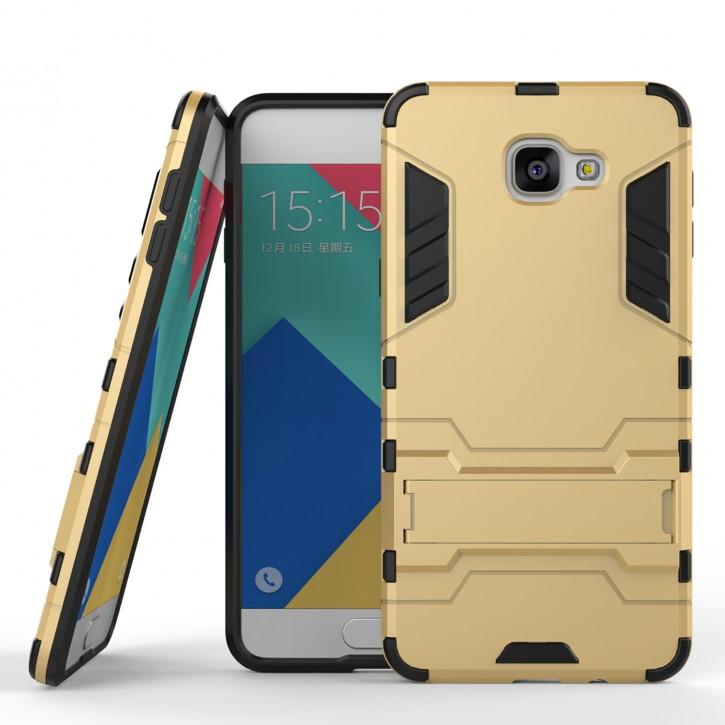 COOVY® Cover für Samsung Galaxy A9 SM-A900 / SM-A900F (Model 2015) Bumper Case, Doppelschicht aus Plastik + TPU-Silikon, extra stark, Anti-Shock Hülle, Standfunktion |
