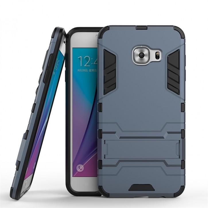 COOVY® Cover für Samsung Galaxy C5 C5000 Deluxe Hybrid Bumper Schutzhülle mit Doppelschicht aus Plastik + TPU-Silikon, extra starkes Case mit Anti-Shock Schutzfunktion, Hülle mit Standfunktion