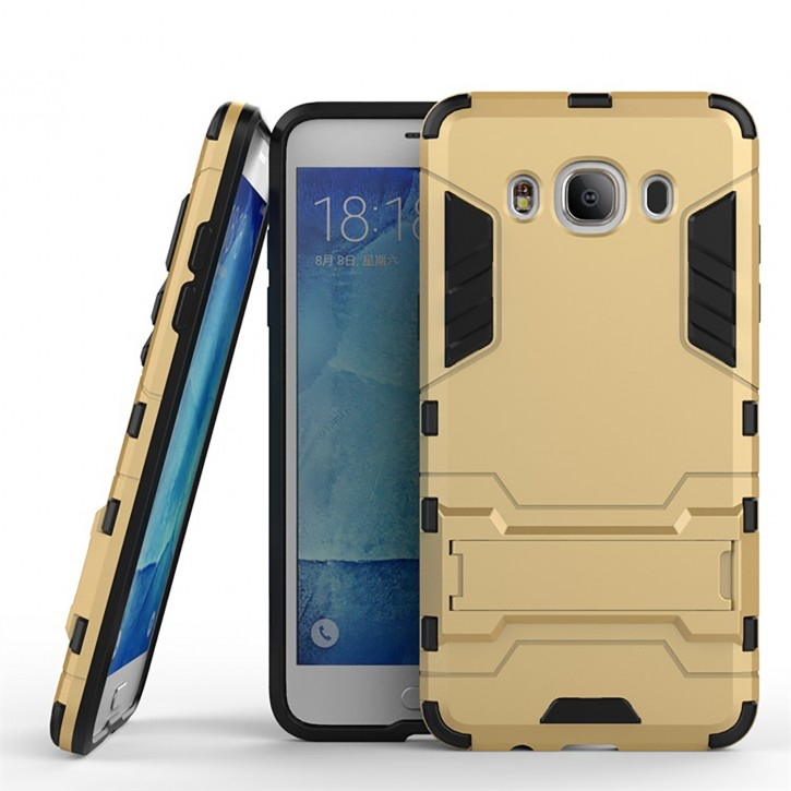COOVY® Cover für Samsung Galaxy J5 SM-J510 SM-J510F/DS (Model 2016) Bumper Case, Doppelschicht aus Plastik + TPU-Silikon, extra stark, Anti-Shock, Standfunktion