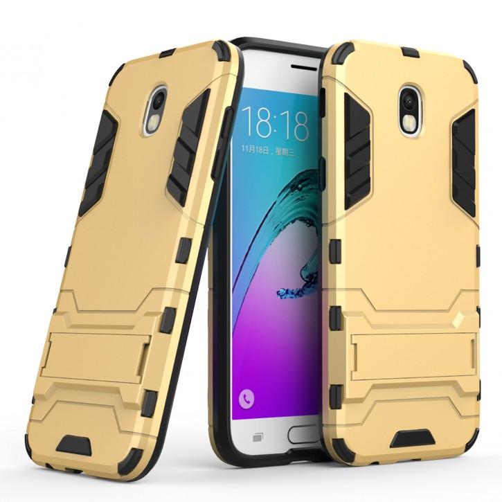 COOVY® Cover für Samsung Galaxy J5 SM-J530 / SM-J530F/DS (Model 2017) / J5 pro Bumper Case, Doppelschicht aus Plastik + TPU-Silikon, extra stark, Anti-Shock, Standfunktion