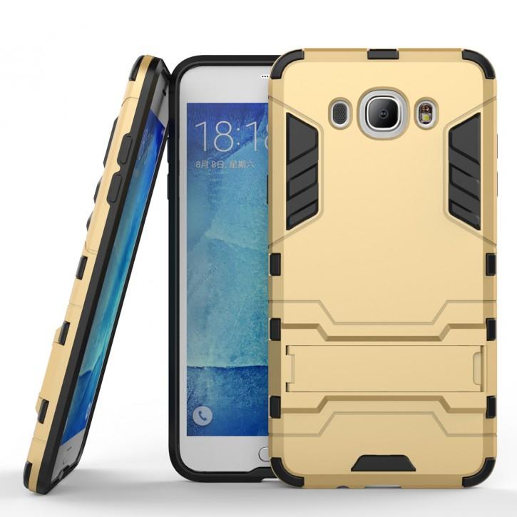 COOVY® Cover für Samsung Galaxy J7 SM-J710 / SM-J710FN / SM-J710F/DS (Model 2016) Bumper Case, Doppelschicht aus Plastik + TPU-Silikon, extra stark, Anti-Shock, Standfunktion