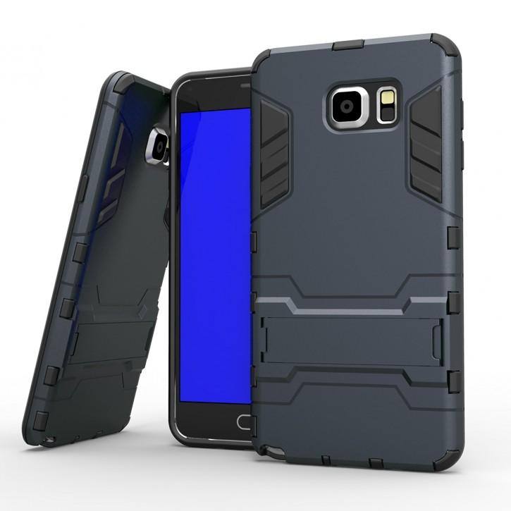 COOVY® Cover für Samsung Galaxy Note 5 SM-N920 / SM-920F Deluxe Hybrid Bumper Schutzhülle mit Doppelschicht aus Plastik + TPU-Silikon, extra starkes Case mit Anti-Shock Schutzfunktion, Hülle mit Standfunktion
