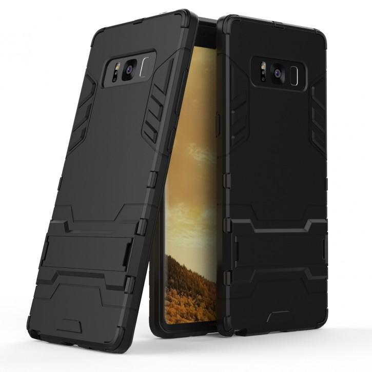 COOVY® Cover für Samsung Galaxy Note 8 SM-N950 / SM-N950F / SM-N950FD Bumper Case, Doppelschicht aus Plastik + TPU-Silikon, extra stark, Anti-Shock, Standfunktion