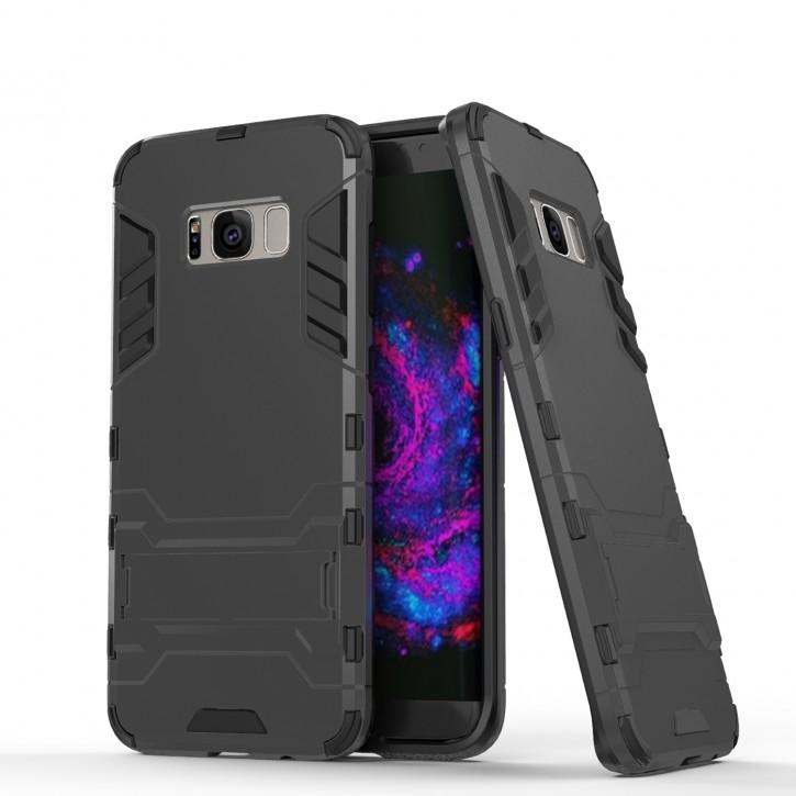 COOVY® Cover für Samsung Galaxy S8 + plus SM-G955F / SM-G955FD Bumper Case, Doppelschicht aus Plastik + TPU-Silikon, extra stark, Anti-Shock, Standfunktion