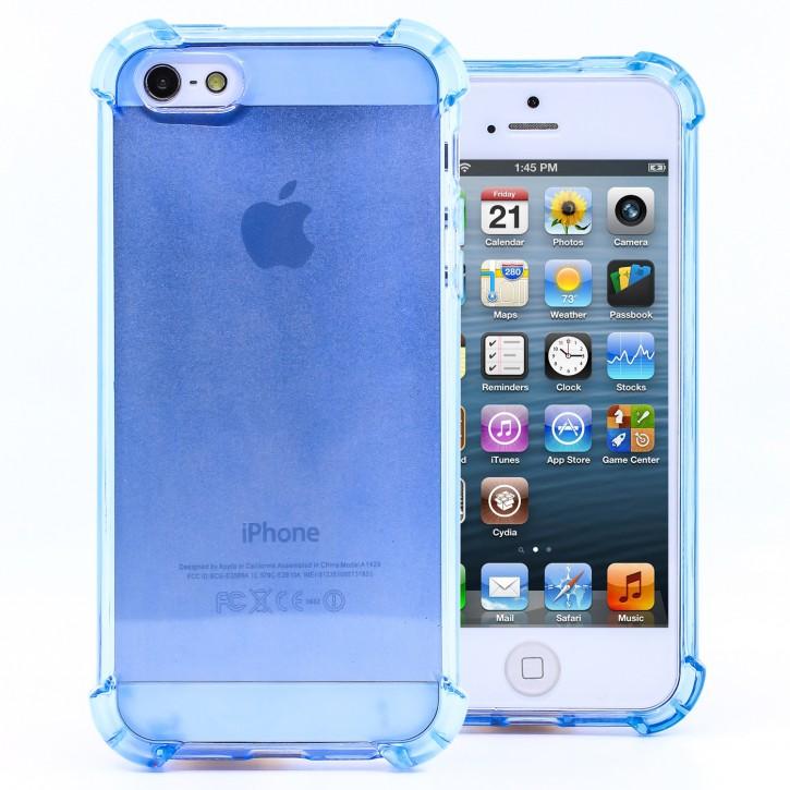 COOVY® Cover für Apple iPhone 5 / 5s / SE transparentes, leichtes, dünnes TPU Silikon Bumper Case, Hülle, Slim, stoßdämpfende Ecken |