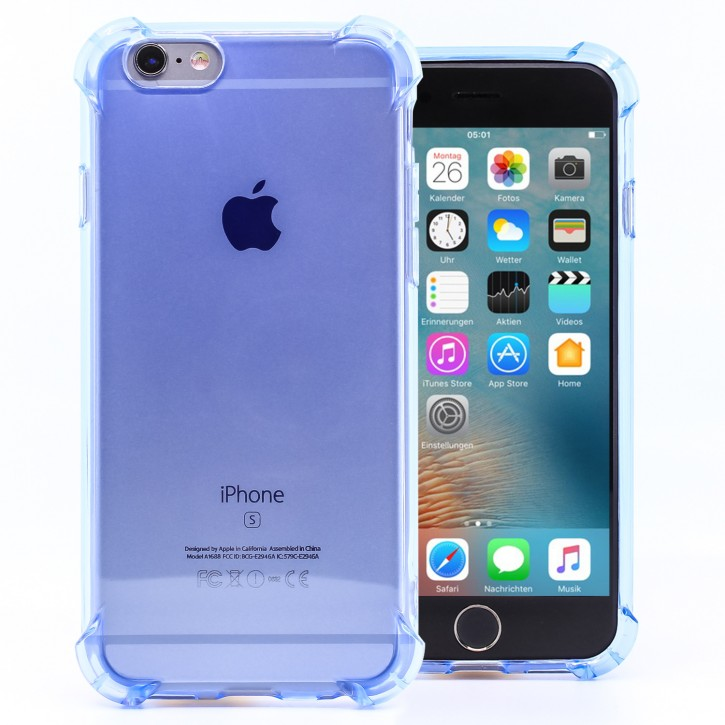 COOVY® Cover für Apple iPhone 6 / 6s transparentes, leichtes, dünnes TPU Silikon Bumper Case, Hülle, Slim, stoßdämpfende Ecken |