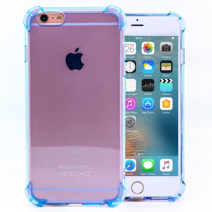 COOVY® Cover für Apple iPhone 6 + plus transparentes, leichtes, dünnes TPU Silikon Bumper Case, Slim, stoßdämpfende Ecken