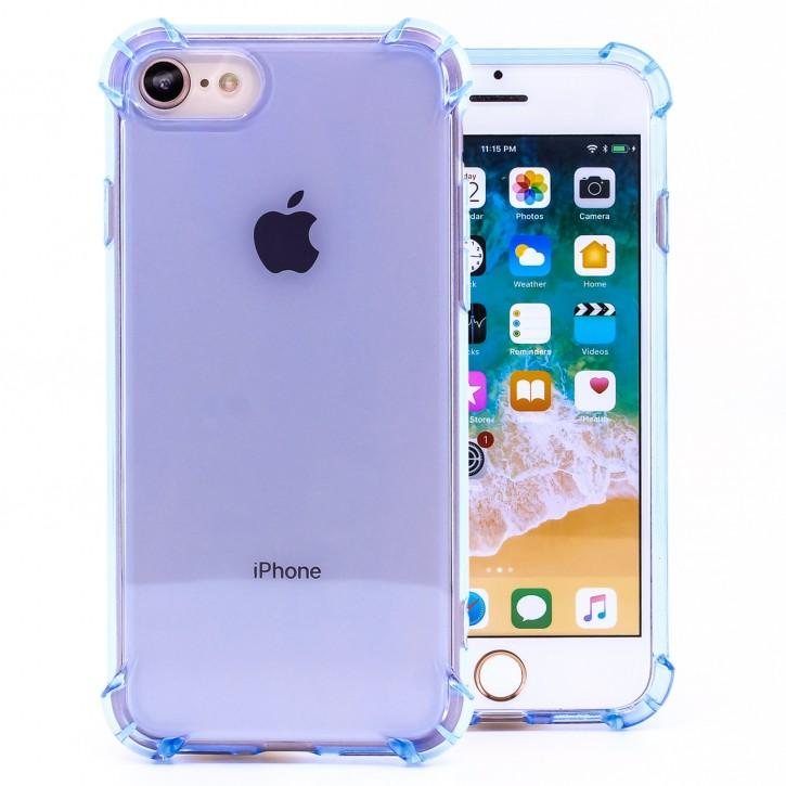 COOVY® Cover für Apple iPhone 7 / 8 transparentes, leichtes, dünnes TPU Silikon Bumper Case, Hülle, Slim, stoßdämpfende Ecken |