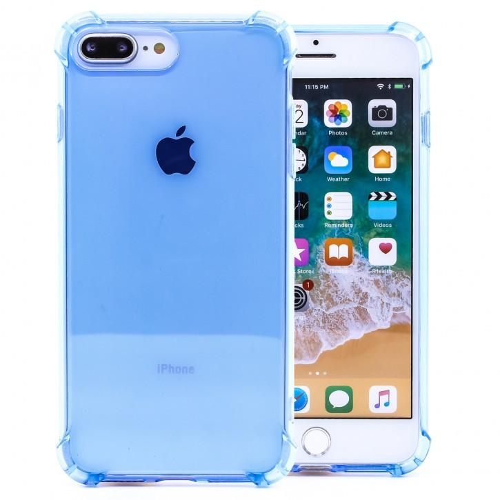 COOVY® Cover für Apple iPhone 7 + plus / 8 + plus transparente, leichte, dünne TPU Silikon Bumper Hülle, Slim Schutzhülle, Case mit stoßdämpfenden Ecken