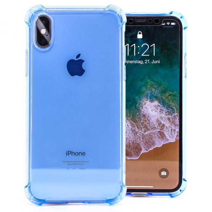 COOVY® Cover für Apple iPhone X / Xs transparentes, leichtes, dünnes TPU Silikon Bumper Case, Slim, stoßdämpfende Ecken