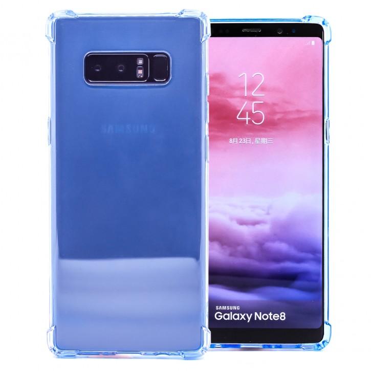 COOVY® Cover für Samsung Galaxy Note 8 SM-N950 / SM-N950F / SM-N950FD transparentes, leichtes, dünnes TPU Silikon Bumper Case, Slim, stoßdämpfende Ecken
