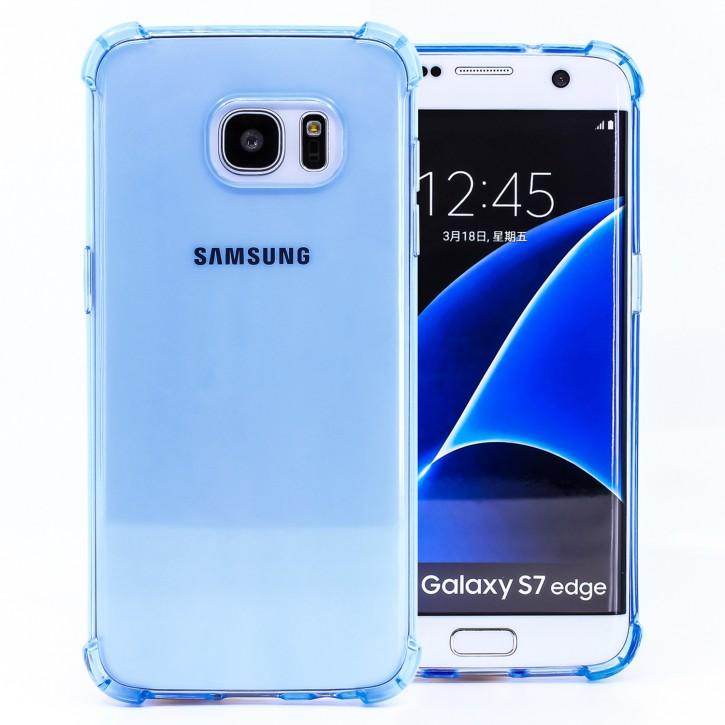 COOVY® Cover für Samsung Galaxy S7 EDGE SM-G935F SM-G935 transparentes, leichtes, dünnes TPU Silikon Bumper Case, Slim, stoßdämpfende Ecken