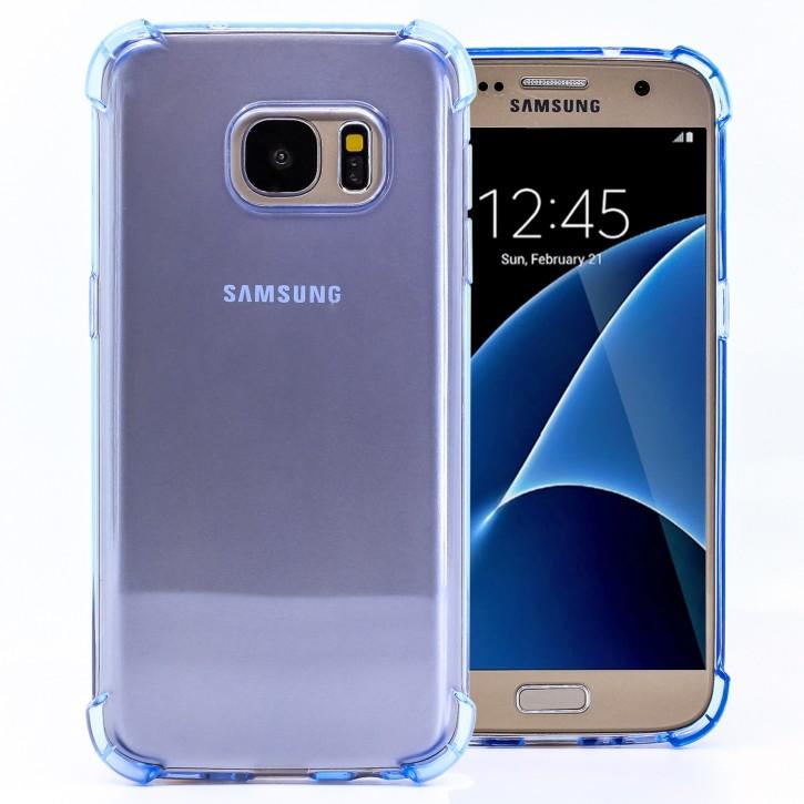 COOVY® Cover für Samsung Galaxy S7 SM-G930F SM-G930 transparentes, leichtes, dünnes TPU Silikon Bumper Case, Slim, stoßdämpfende Ecken
