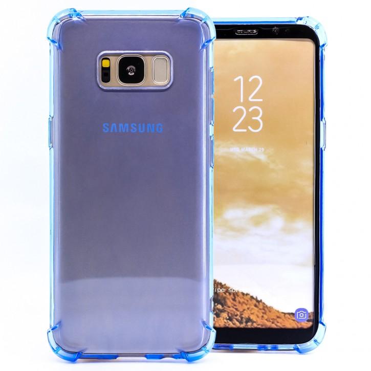COOVY® Cover für Samsung Galaxy S8 SM-G950F / SM-G950FD transparentes, leichtes, dünnes TPU Silikon Bumper Case, Slim, stoßdämpfende Ecken