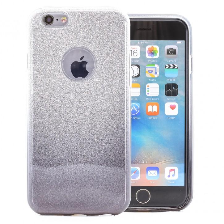 COOVY® Cover für Apple iPhone 6 / 6s leichtes dünnes Bumper Case aus Plastik + TPU-Silikon, schillerndes Glitzer Design