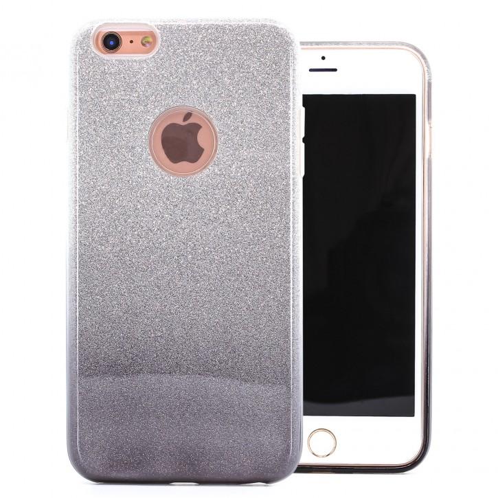 COOVY® Cover für Apple iPhone 6 + plus leichtes dünnes Bumper Case aus Plastik + TPU-Silikon, schillerndes Glitzer Design