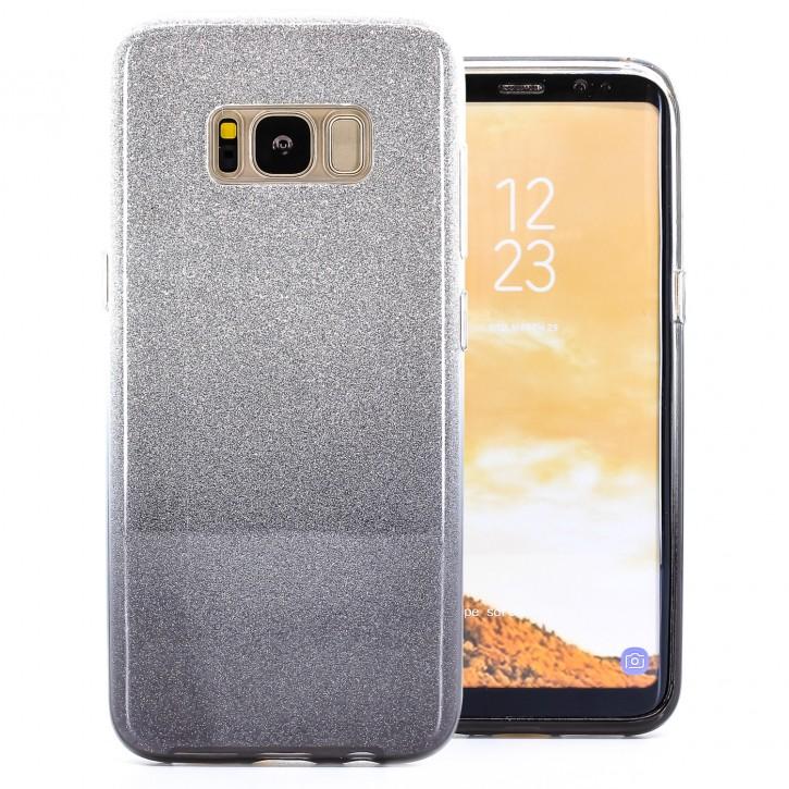 COOVY® Cover für Samsung Galaxy S8 SM-G950F / SM-G950FD leichtes dünnes Bumper Case aus Plastik + TPU-Silikon, schillerndes Glitzer Design