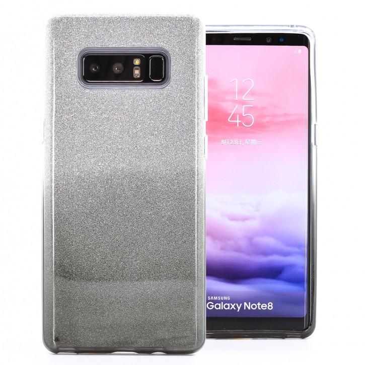 COOVY® Cover für Samsung Galaxy Note 8 SM-N950 / SM-N950F / SM-N950FD leichtes dünnes Bumper Case aus Plastik + TPU-Silikon, schillerndes Glitzer Design
